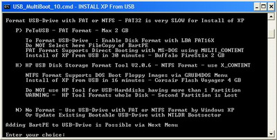 U 02 Format Menu Install Windows XP Menggunakan USB Flash disk