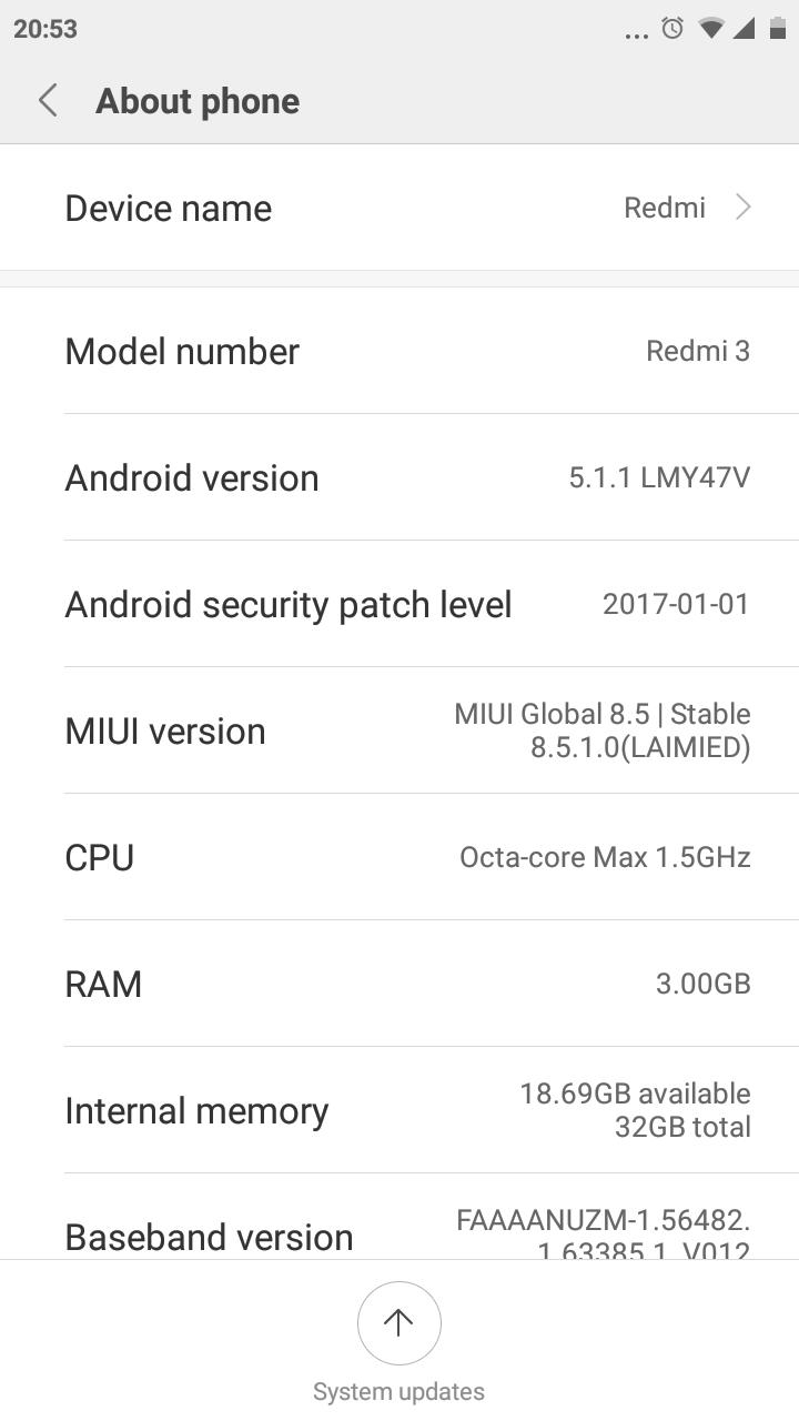 Balikin Pengaturan 4G di Miui 8.5.1.0 LTE Redmi 3 Pro