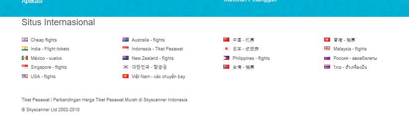 Berbagai macam bahasa untuk mendukung pemesanan tiket pesawat