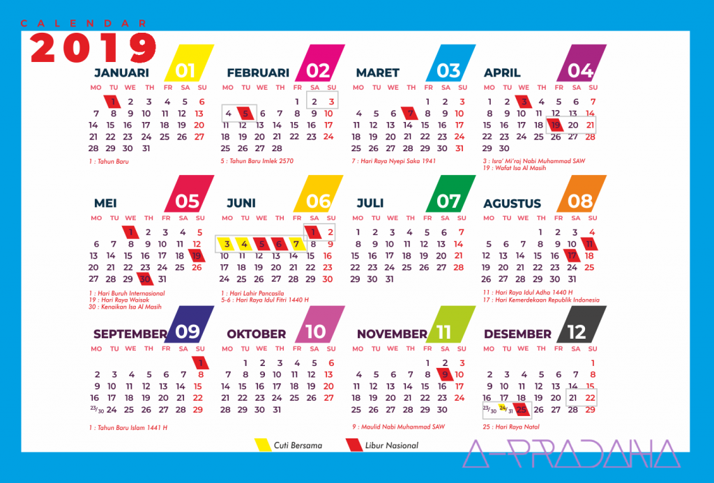 Download Kalender 2019 Indonesia