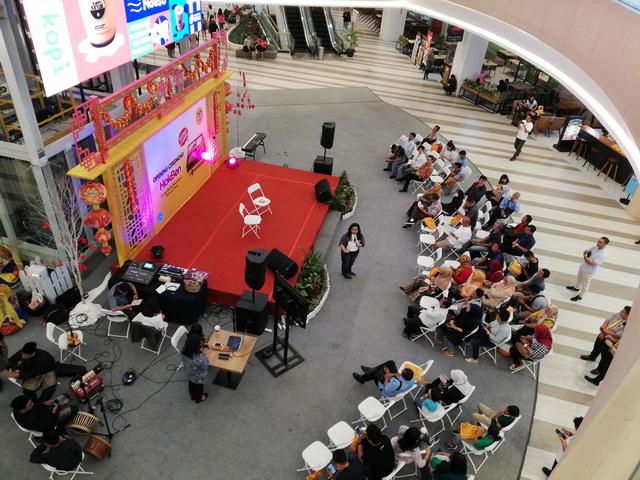 suasana peresmian hokben living world pekanbaru