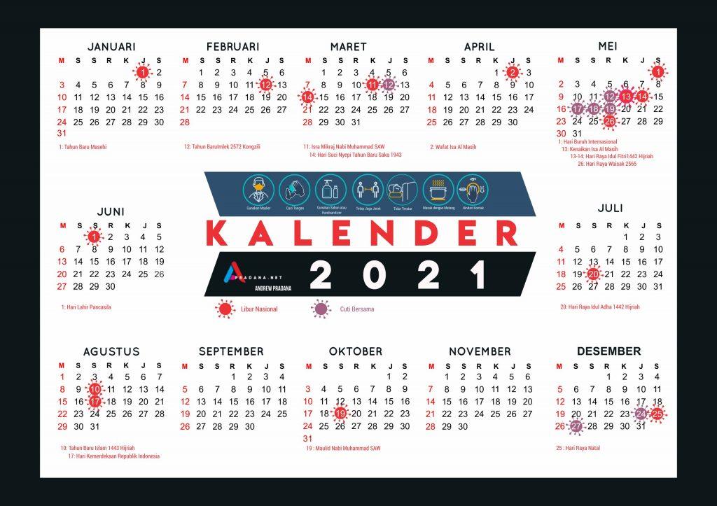 Download Kalender 2021 Indonesia Beserta Cuti Bersama