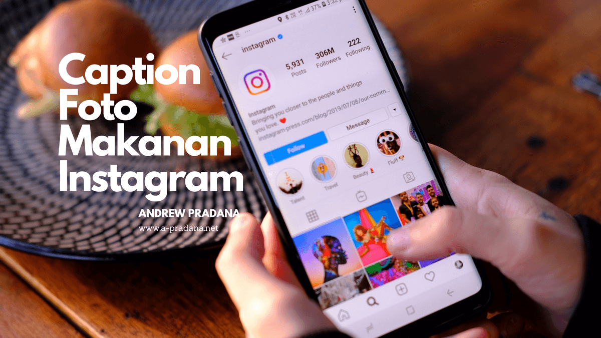 Caption Foto Makanan di Instagram
