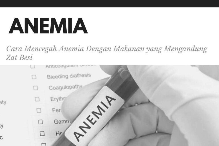 cara mencegah anemia